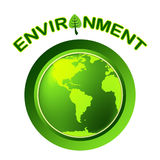 Globe Environment Represents Go Green And Earth. Environment Globe Showing Earth Friendly And Natural Stock Images