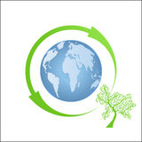 Globe environmental icon royalty free stock photography