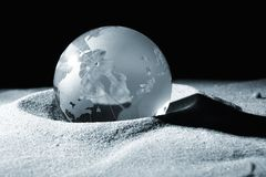 Globe, environmental responsibility Stock Photography