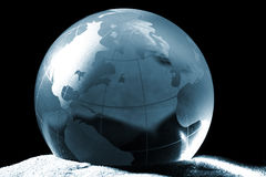 Globe, environmental responsibility Stock Photo