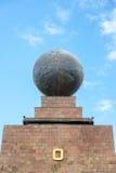 Globe on Equator Monument Royalty Free Stock Photo