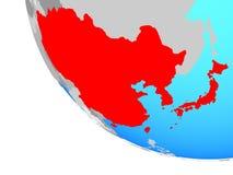 globe est de l'Asie illustration libre de droits