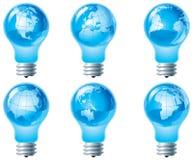 Globe et ampoule électrique Images stock
