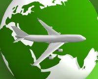 Globe et avion 004 Photo libre de droits