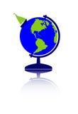 Globe et bateau à voiles Image stock