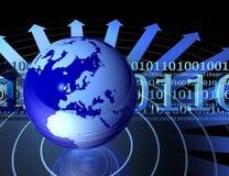 Globe et codes binaires Image libre de droits