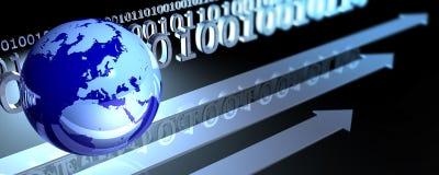 Globe et codes binaires Photographie stock libre de droits