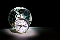 Globe et compas Image stock