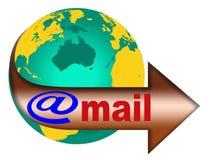 Globe et courrier 2 du monde Images stock