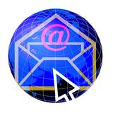 Globe et courrier 3 du monde Photo stock