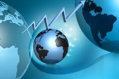 Globe et graphique Images libres de droits