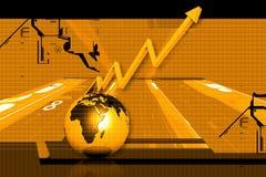 Globe et graphique Images stock