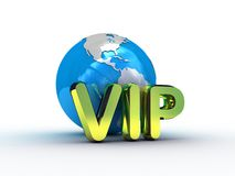 Globe et l'inscription VIP Photographie stock libre de droits