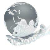 Globe et mains de la terre Photos libres de droits
