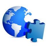 Globe et partie de puzzle Image libre de droits
