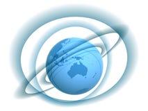 Globe et pistes Photographie stock libre de droits