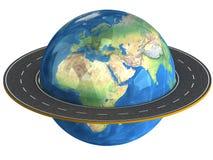 Globe et routes autour de lui. Images stock