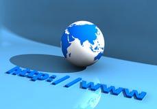 Globe et WWW 005 Photographie stock libre de droits