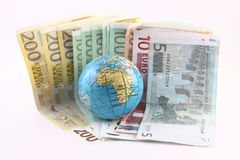 Globe on a Euro Stock Photos