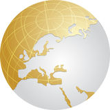 Globe Europe Stock Photography