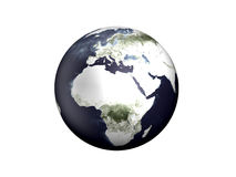 Globe - Europe, Africa. 3D rendered Illustration. Isolated on white Stock Photos