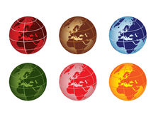 Globe - europe and africa. Globe vector illustration - europe and africa Stock Photos