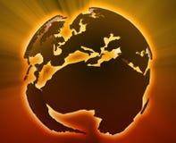 Globe Europe Africa Stock Photo