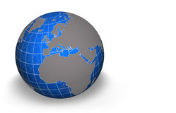Globe, Europe/Africa. Semi transparent globe with grid - Western Europe/Africa view Stock Photography