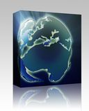 Globe Europe Africa box package Stock Images