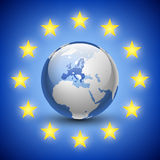 Globe with 27 european union countries Royalty Free Stock Image