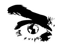 Globe and eye Stock Image