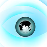 Globe eye Stock Photo