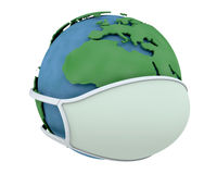 Globe in face mask Stock Photos
