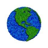 Globe fait à partir des feuilles, la terre verte d'eco Image stock