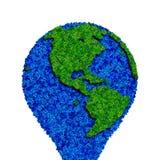 Globe fait à partir des feuilles, la terre verte d'eco Photographie stock