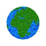 Globe fait à partir des feuilles, la terre verte d'eco Images stock