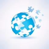 Globe fait de piecies de puzzle Photographie stock