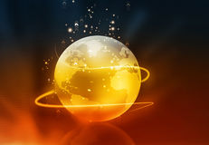 Globe with fiber optic Royalty Free Stock Image