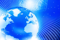 Globe with  fiber optics Royalty Free Stock Photos