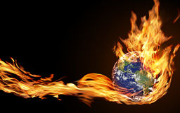 Globe fire Stock Photos