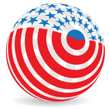 Globe flag Stock Photography