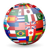 Globe flags Royalty Free Stock Images