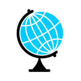 Globe Flat icon. Earth ball character. Planet earth sign Stock Image