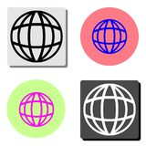 Globe. flat vector icon royalty free illustration