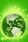 Globe floral vert illustration stock