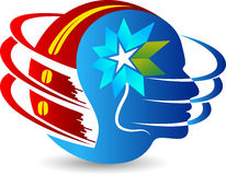Globe flower logo Stock Image