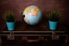 A globe with flowers royalty free stock photos