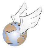 Globe fly Stock Photos