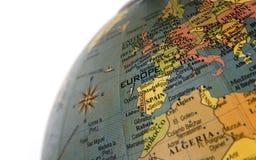 Globe focused on Europe Royalty Free Stock Photos