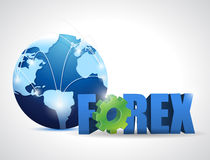 Globe forex network illustration design Royalty Free Stock Images